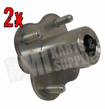 "Set of 2, 3/4"" Rear Axle Wheel Hubs Go Kart Off Road Cart Mini Bike Trike Parts"