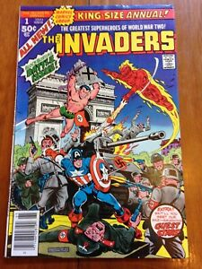 The-Invaders-King-Size-Annual-1-1977-Alex-Schomburg-1st-new-Marvel-cover-in-30