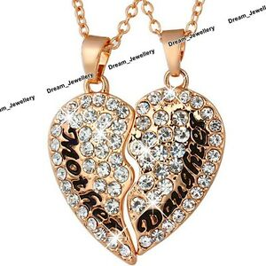BLACK FRIDAY SALE Gifts for Her Mother amp Daughter Gold Crystal Heart Necklace D2 - London, United Kingdom - BLACK FRIDAY SALE Gifts for Her Mother amp Daughter Gold Crystal Heart Necklace D2 - London, United Kingdom