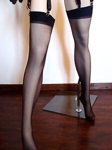 Bas Noir/porte Jaretelles/taille Unique/lingerie/sexy Lingerie/porte Jarretelles