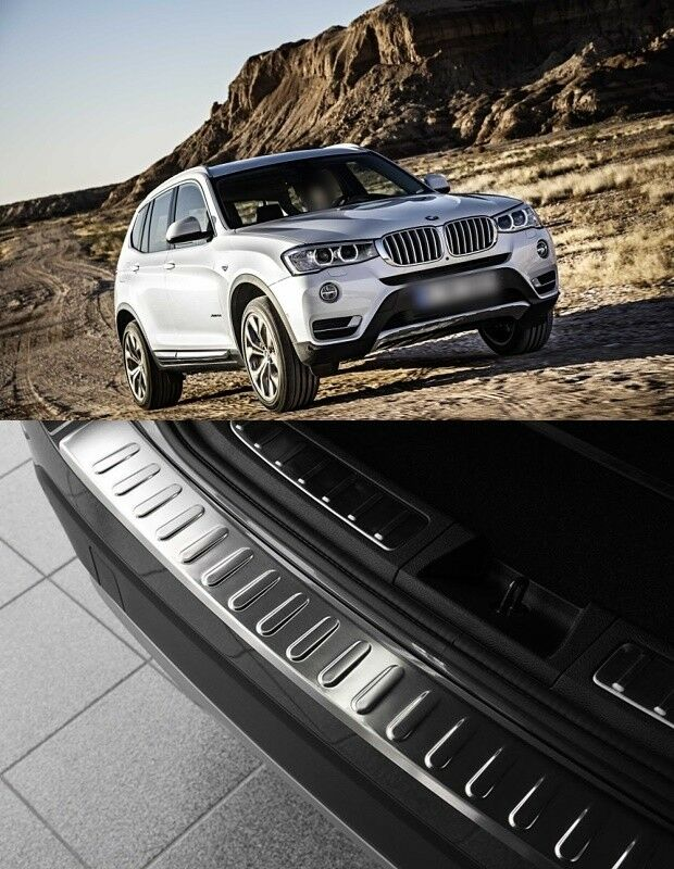 Details About 2010 2017 Bmw X3 F25 Facelift Chrome Rear Bumper Protector Scratch Guard S Steel