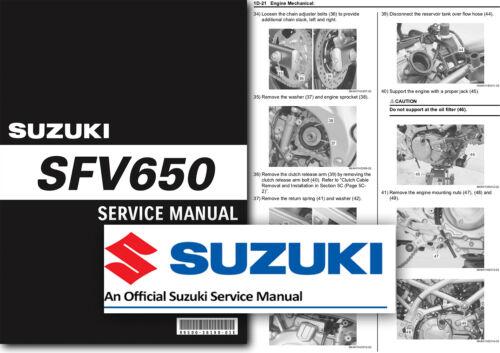 Suzuki SFV650 GLADIUS Service Manual 2009 to 2015 Workshop Repair Shop
