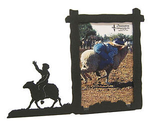 Sheep-Riding-Rodeo-Picture-Frame-3-5-034-x5-034-3-034-x5-034-V-Mutton-Busting