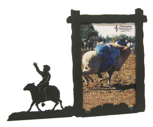 """Sheep Riding Rodeo Picture Frame 3.5/""""x5/"""" 3/""""x5/"""" V Mutton Busting"""