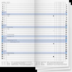 Brunnen 2021 Monatskalendarium 1074000001 A6 7,8x15,3cm Modell 740 Faltkalender
