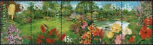 2000-AUSTRALIA-Gardens-of-Australia-Strip-5-MNH
