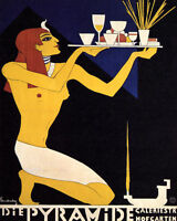 Poster Die Pyramide The Pyramid Egyptian Waiter Food Vintage Repro Free S/h