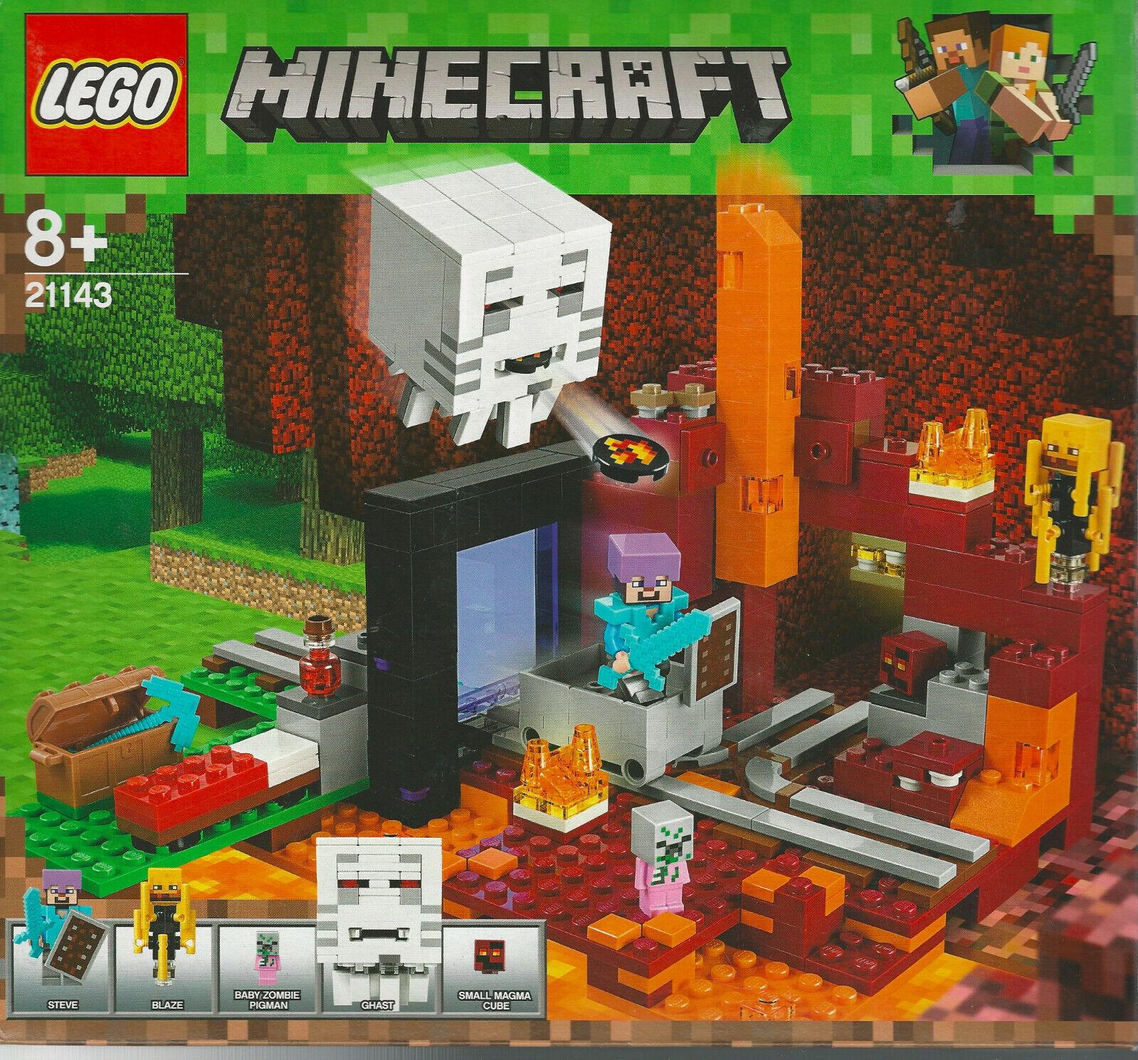 LEGO MINECRAFT 21143 IL PORTALE DEL NETHER  new Nuevo NIB  Blaze Ghast Magma cub