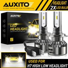 2X AUXITO H7 LED Headlight Bulb Kit High Low Beam 6500K Super White 20000LM EOA