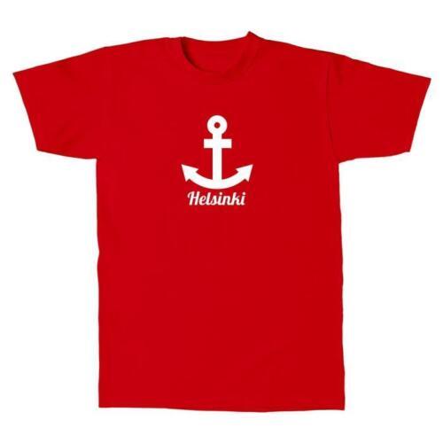 T-Shirt hommes-Helsinki ancre-Finland Finlande vacances