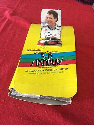4 Redline Stock Car Racing Trading Card Unopened Pack Box 48ct 3D Standups
