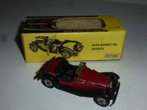 Rare Politoys Alfa Romeo Gs Zagato Neuf Boite Ref 532