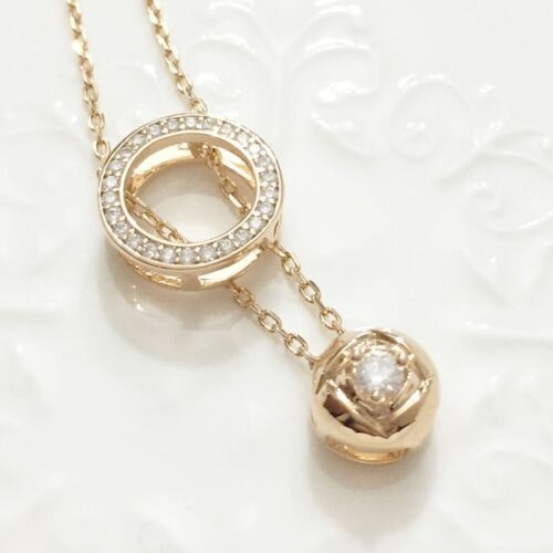 """14k Yellow Gold Plated Rose Diamond Halo Pendant Chain Necklace 18/"""" Women Gift"""