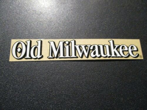 OLD MILWAUKEE classic clear strip STICKER decal craft beer brewery brewing