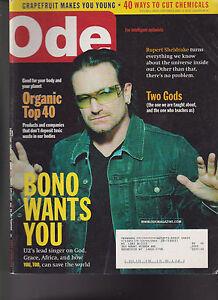 Ode Magazine November 2005 Bono U2