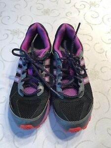 19558e1f5b1421 Women s Adidas Lite Strike Eva Running Shoes Size 7.5 Purple Black ...