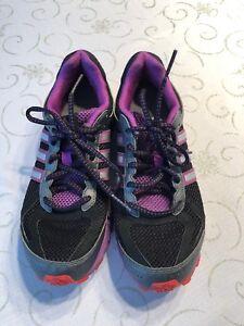 c1fe99503581 Women s Adidas Lite Strike Eva Running Shoes Size 7.5 Purple Black ...