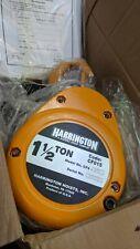 New Harrington Cf015 15 Chain Hoist 1 12 T 15ft Made In Usa Test Date Aug 2021