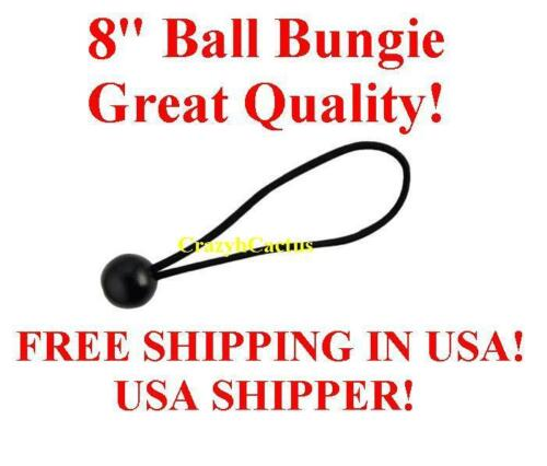 "100  8/"" BLACK Ball Bungie Bungees Bungee Canopy Tie Down Tarp FREE USA SHIP!"