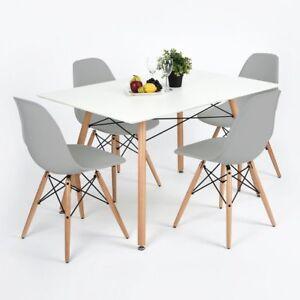 Lot-de-4-chaises-design-tendance-retro-eiffel-bois-chaise-de-salle-a-manger-Gris