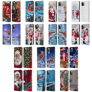 THE-MACNEIL-STUDIO-SANTA-CLAUS-LEATHER-BOOK-WALLET-CASE-FOR-APPLE-iPHONE-PHONES