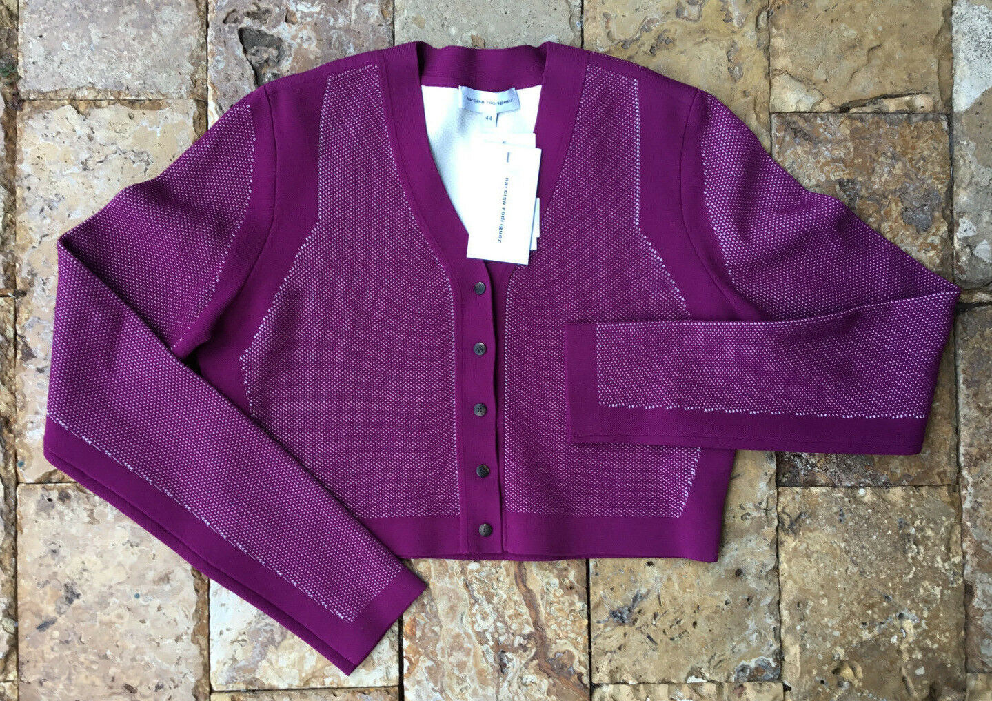 NARCISO RODRIGUEZ Shrug Short Cardigan Purple, size 46