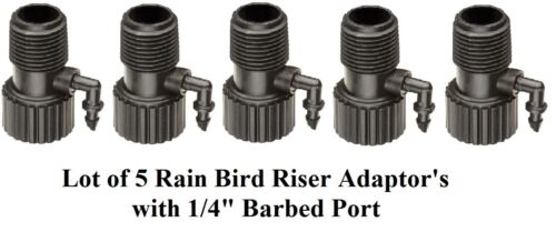 """Lot of 5 New Rain Bird Riser Adapter with 1//4/"""" Barbed Port  A51217 RISMAN1S 143"""