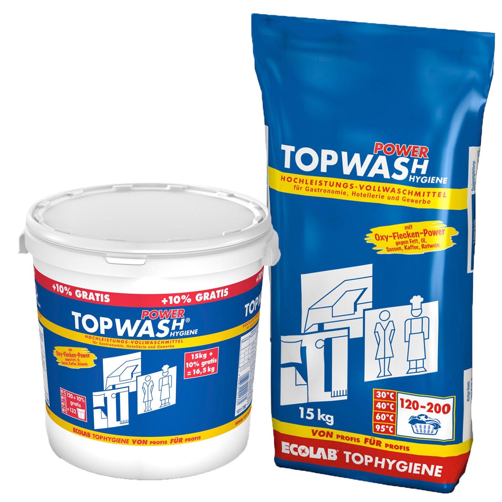 Ecolab Topwash Power Profi Vollwaschmittel 200WL oder +10% mehr Inhalt