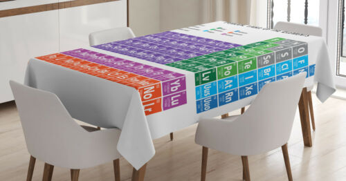 Periodic Table Elements Klare Farben Schule Tischdecke