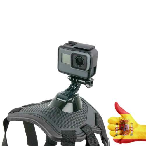 3 2 SJCAM XIAOMI ROLLEI ARNES DE Perro Montura de cámara GoPro 7 6 5 4 3