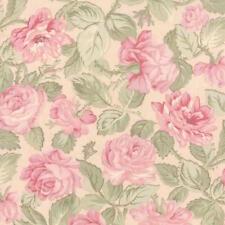 Moda 3 Sisters Paris Flea Market Garden Rose Ballet Slipper Pink Fabric
