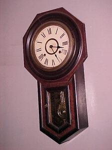 Octagon Short Drop Regulator Clock Seikosha C 1900 Ebay