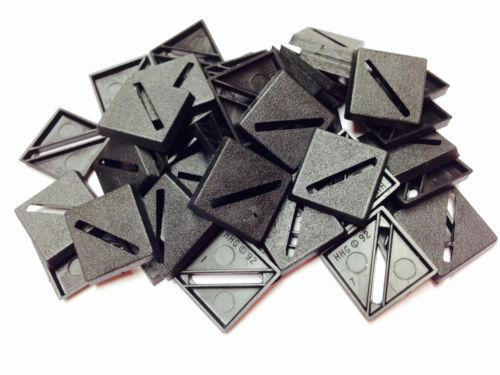 Bases BNIB 20mm Square Slotted x 500  500BASE20SQ