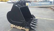 New 48 Heavy Duty Excavator Bucket For A Kobelco Sk160 With Pins Amp Side Cutters