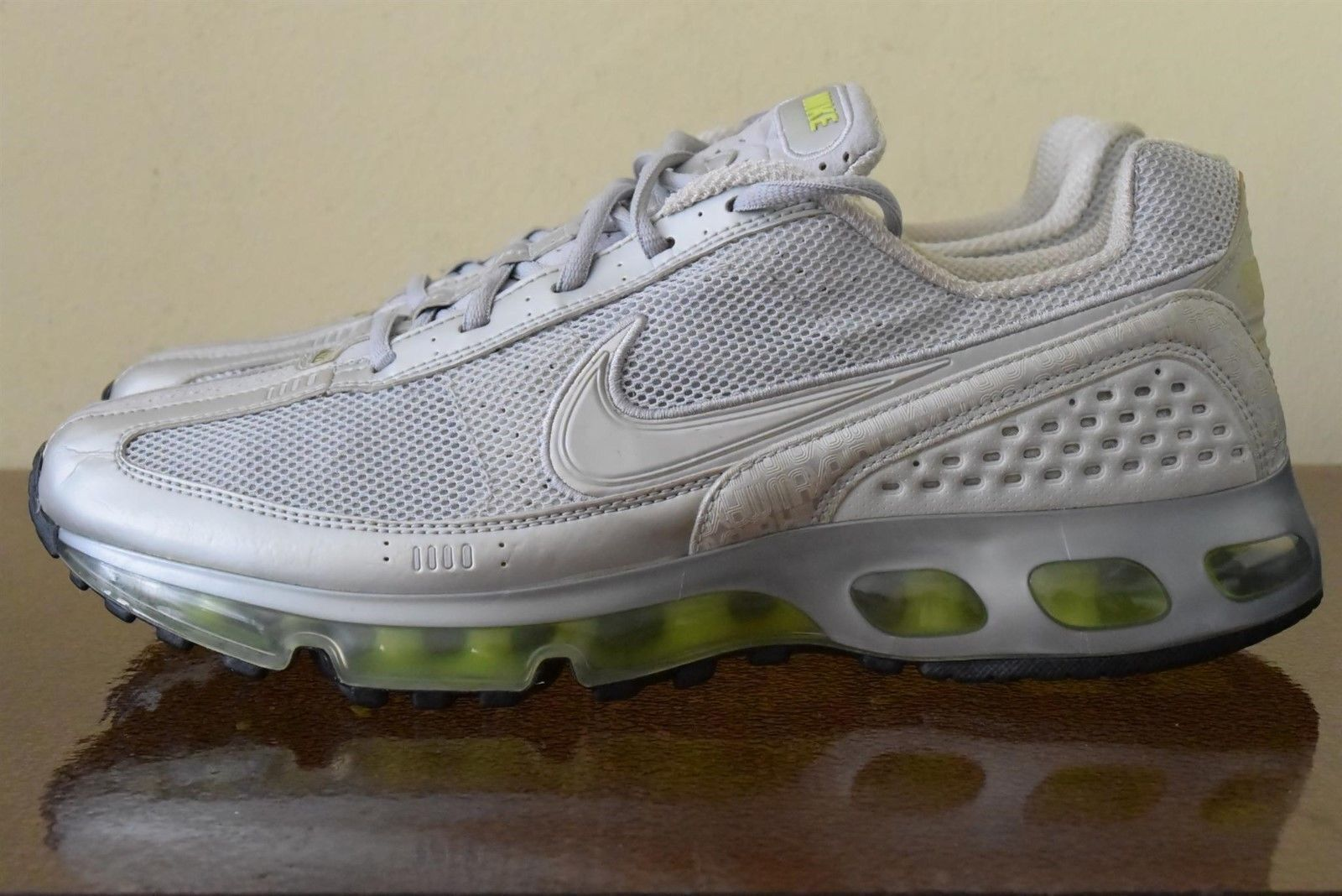 Nike Air Max 360 White Silver Lime Green 318159-004 Sz 11