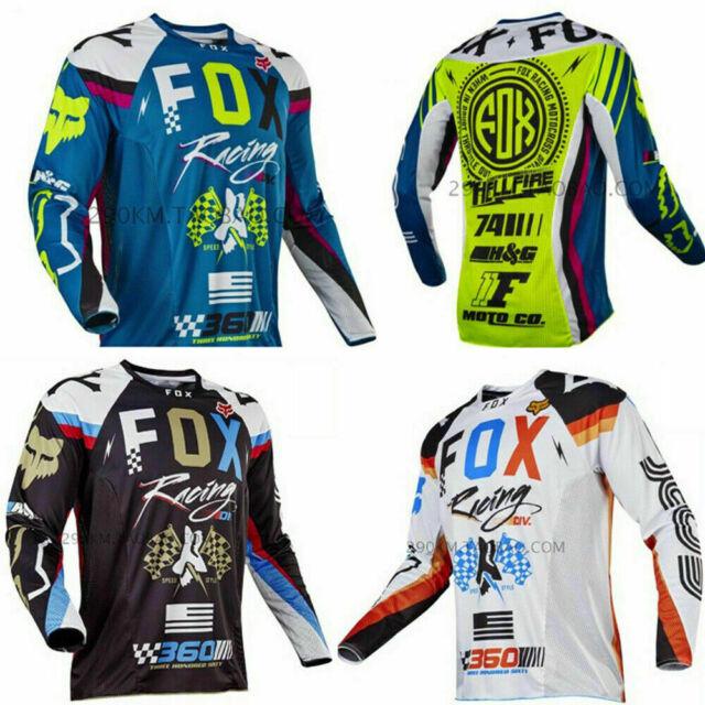 FOX MTB Racing T-shirts Downhill Jersey Motorrad Radfahren Trikots FahrradTrikot