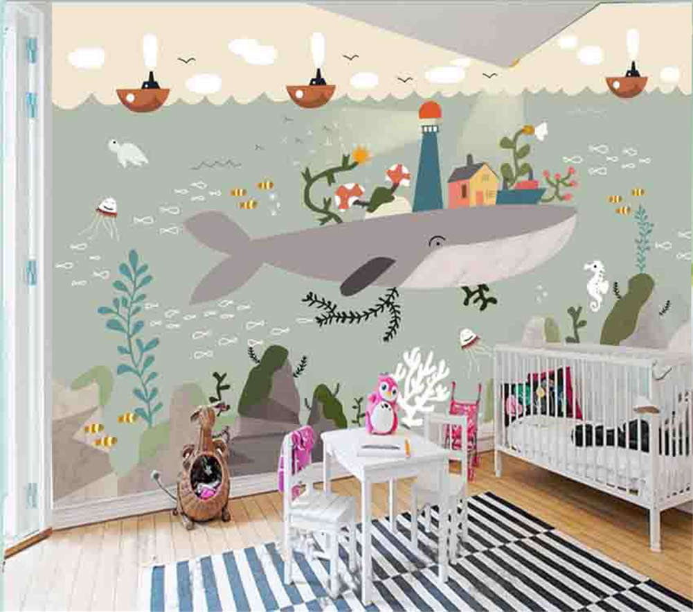 Fairy Tale Of Marine 3D Full Wall Mural Photo Wallpaper Printing Home Kids Decor