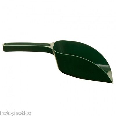 Green Plastic Garden Scoop for Greenhouse Potting Compost Soil Seed Animal Feed