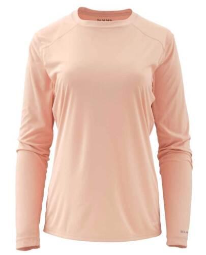 Small Dusty Pink Simms Women/'s Solarflex LS Crewneck Free US Shipping