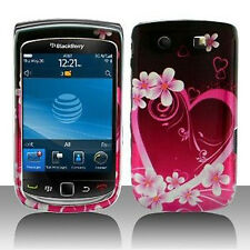 For BlackBerry Torch 9800 Protector Hard Case Snap on Phone Cover Purple Love