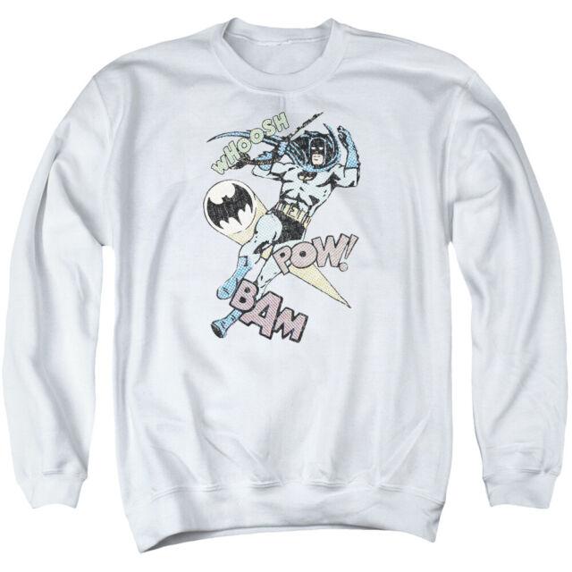 Batman HALFTONE SWING Boom Pow Licensed Adult Crewneck Sweatshirt S-3XL