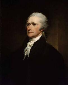 Dream-art Oil painting male Portrait Alexander Hamilton hand painted on canvas