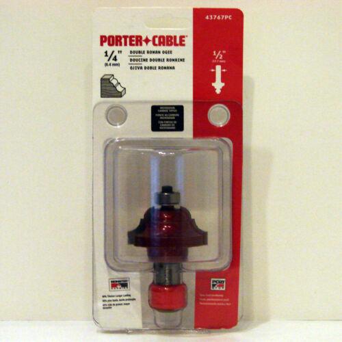 "Porter Cable 43767PC 1//4/"" Radius Double Roman Ogee Carbide Router Bit 1//2/"" Freud"