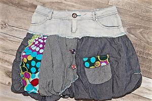 adorable-jupe-boule-patchwork-DESIGUAL-taille-36-fr-40i-EXCELLENT-ETAT
