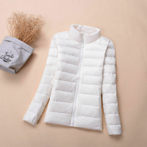 Factory Outlets Women/'s Packable Down Jacket Ultralight Stand Collar Coat Winter