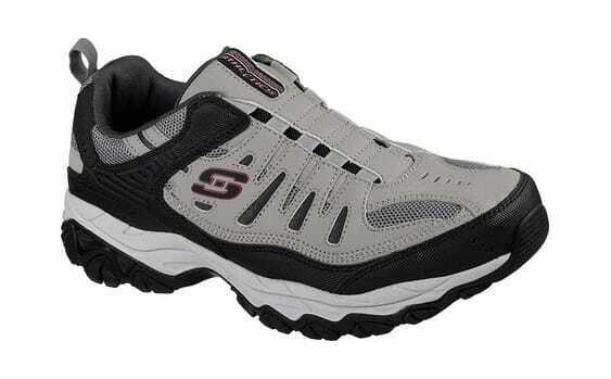 Skechers Para Hombre Calce Burn M. After Sin Cordones Para Caminar Zapato gris Negro
