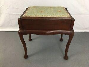 Antique-ottoman-piano-stool-on-cabriole-legs-1875U