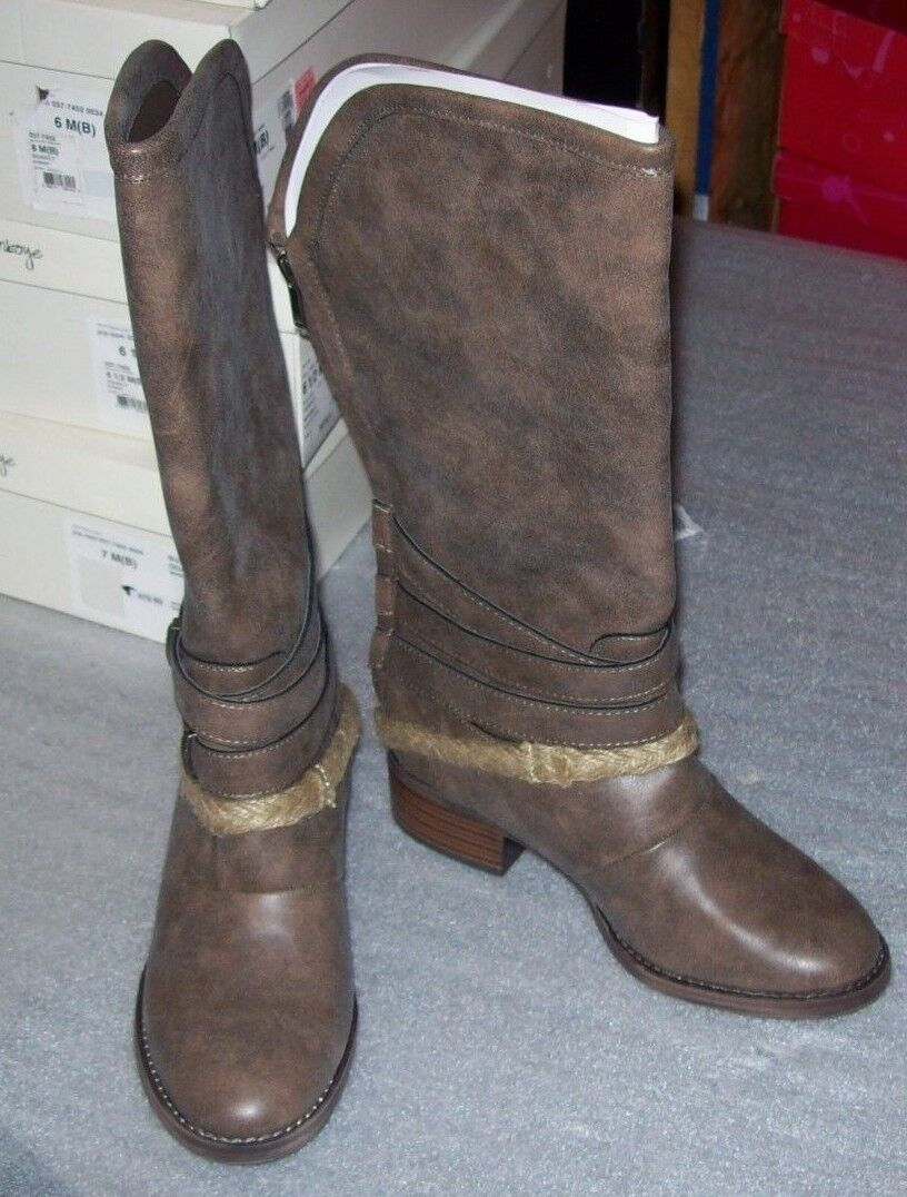 WOMENS OLSENBOY ODARCY CANVAS FASHION MID CALF BOOTS MULTIPLE SIZES NEW IN BOX