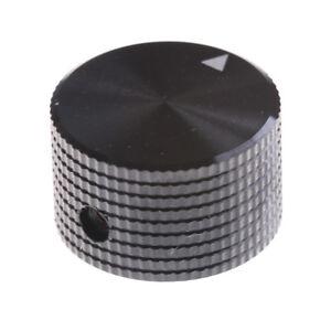 Black-Aluminum-Rotary-Control-Potentiometer-Knob-25mm-x-15mm-JF