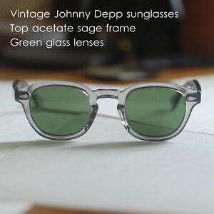 01037a5454 Image is loading Vintage-sunglasses-Johnny-Depp-eyeglasses-mens-SAGE-frame-